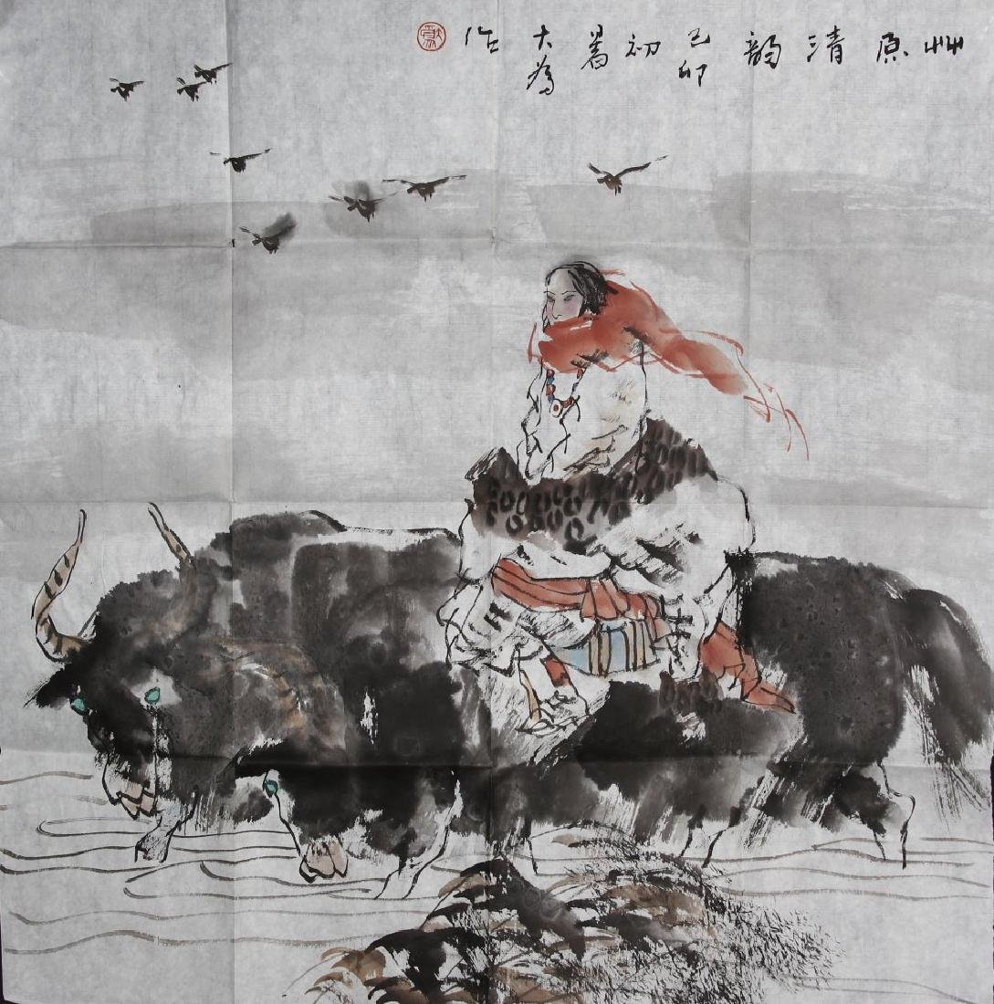 Chinese Ink and Color on Paper by Liu Dawei