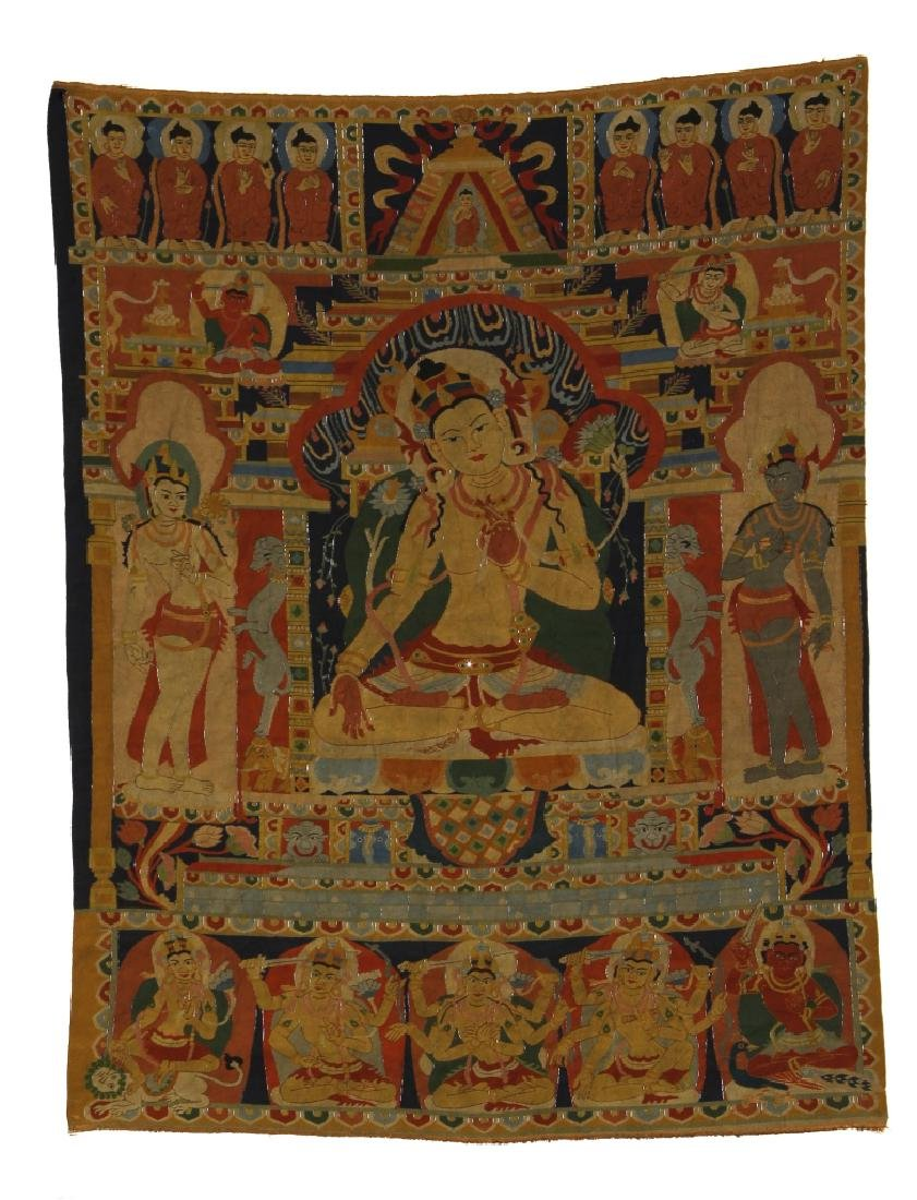 Chinese Kesi Thangka Panel