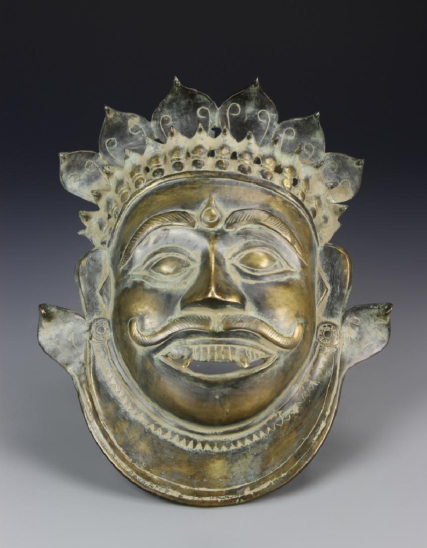 Old Bronze Budta Mask of Shiva