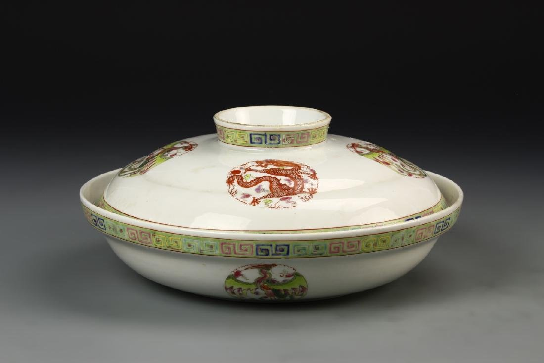 Chinese Famille Rose Bowl With Cover