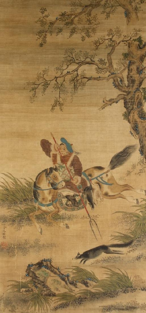 Chinese Scroll Painting of Warrior