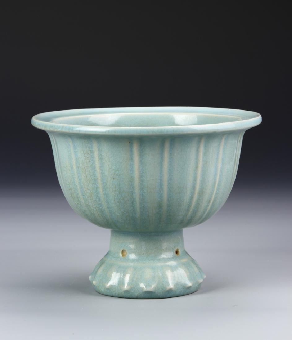 Chinese Longquan Yao High Stem Bowl