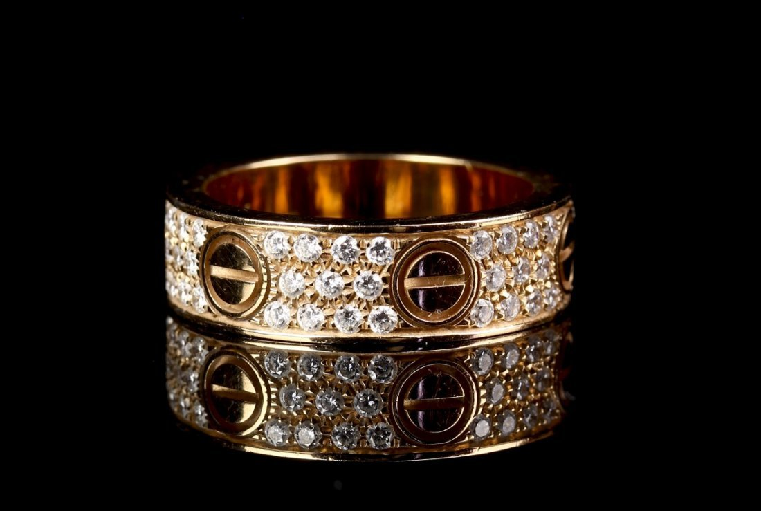 Cartier Gold Ring with Diamond