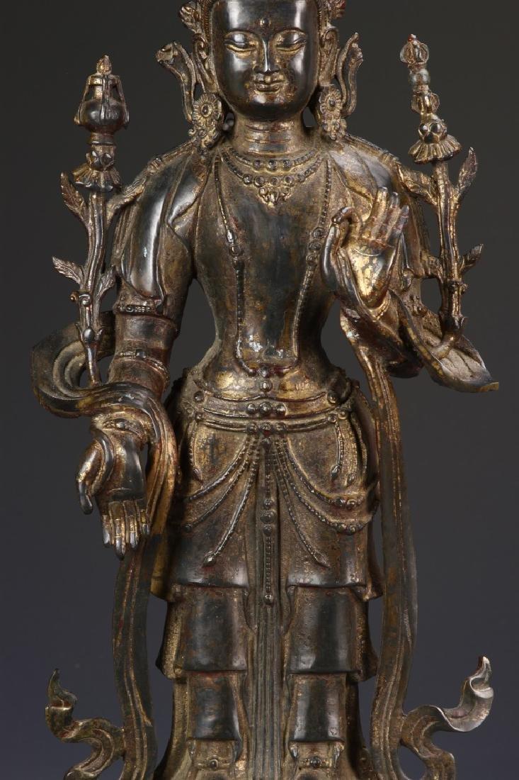 Chinese Bronze Standing Buddha - 2