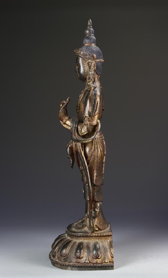 Chinese Bronze Standing Buddha - 3