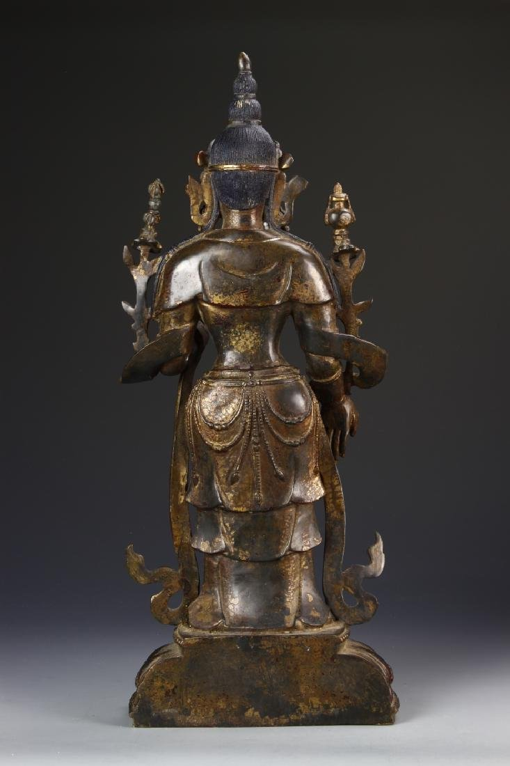 Chinese Bronze Standing Buddha - 4