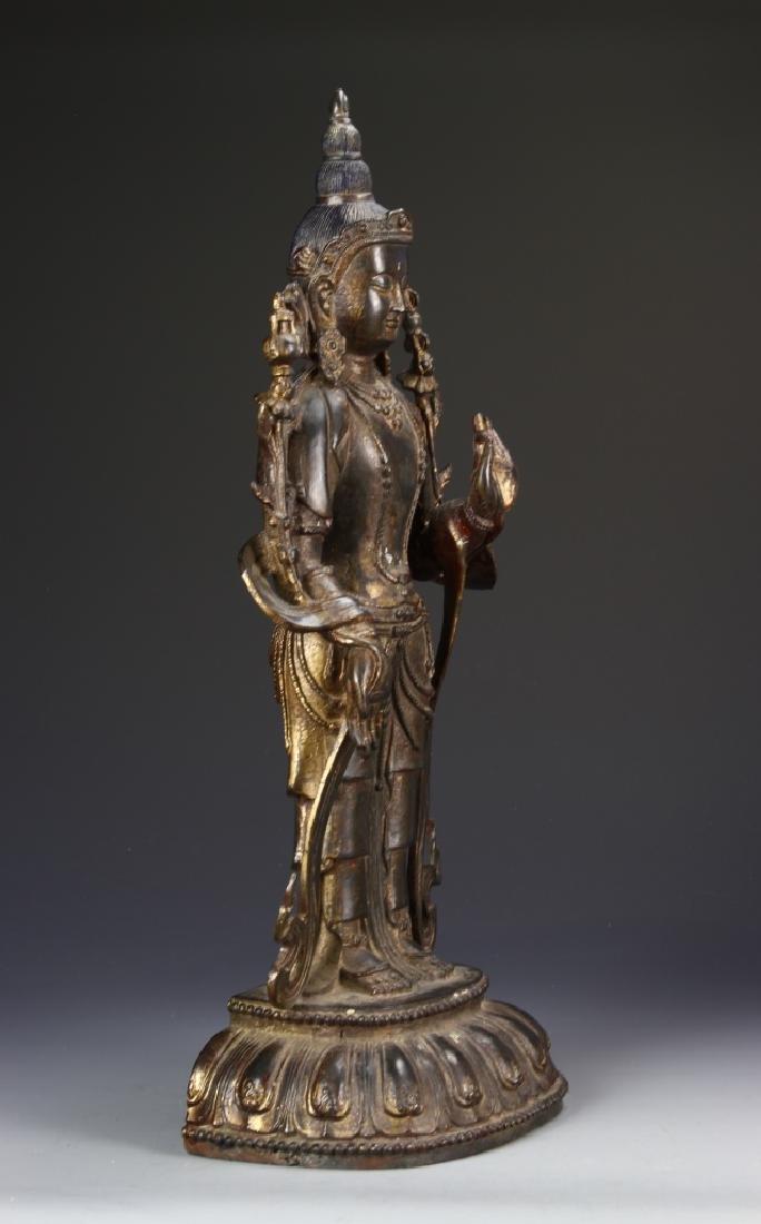 Chinese Bronze Standing Buddha - 5