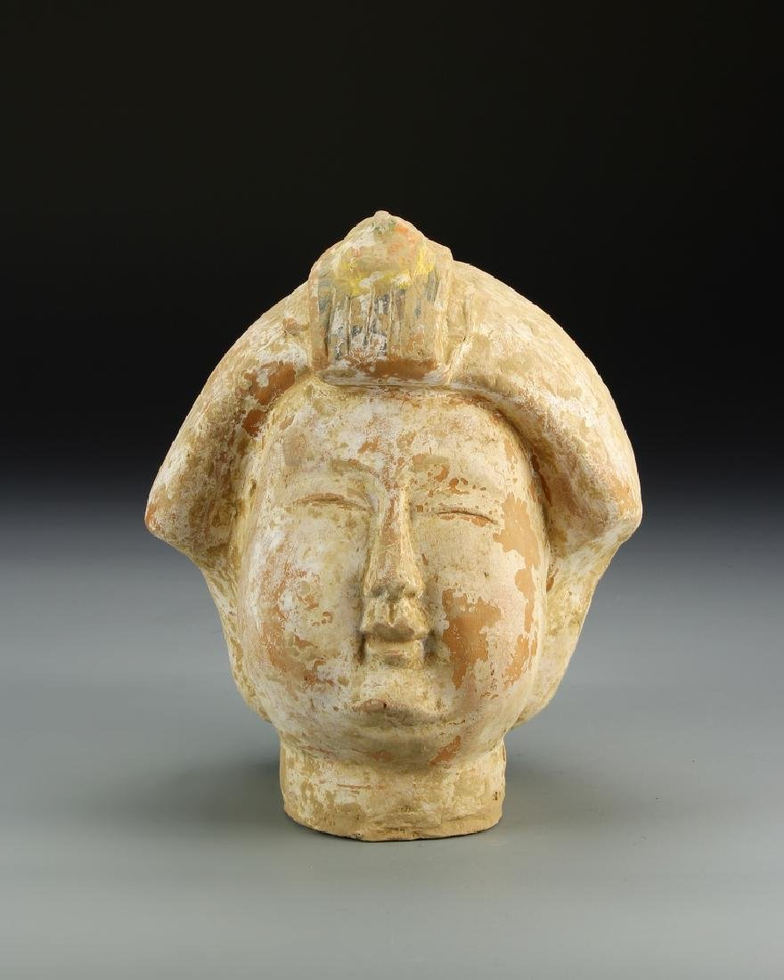 Chinese Pottery Bust - 2