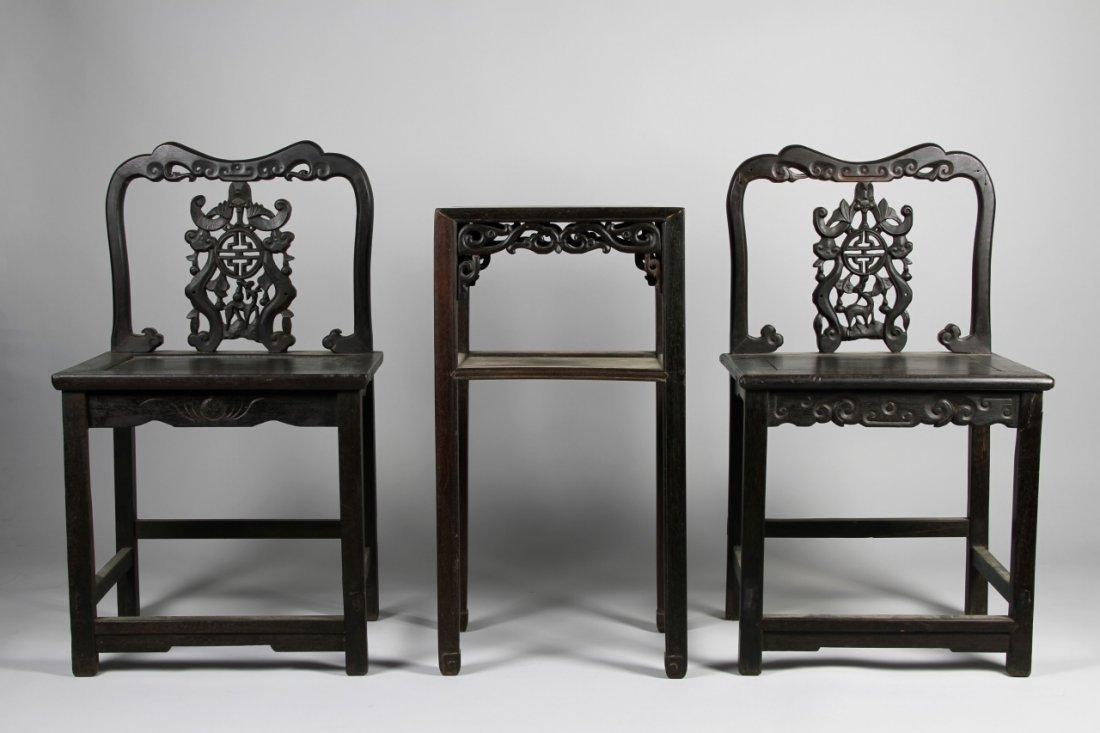 Chinese Hardwood Chairs and Table
