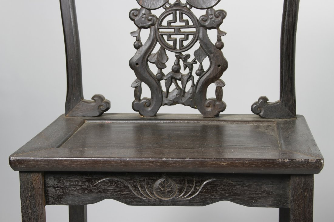 Chinese Hardwood Chairs and Table - 7