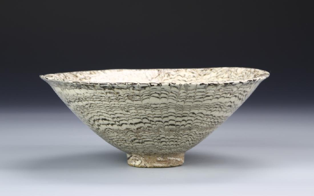 "Rare Chinese ""Marble"" Glaze Bowl - 2"