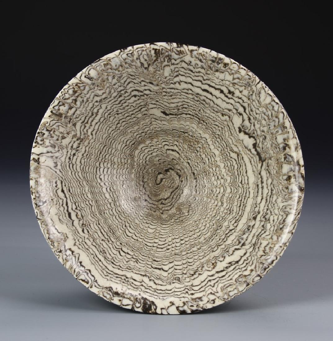 "Rare Chinese ""Marble"" Glaze Bowl - 3"