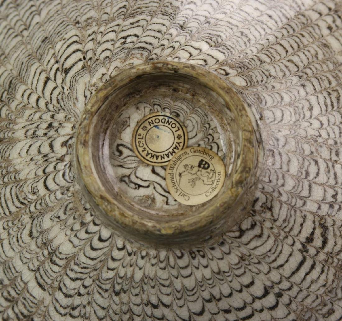"Rare Chinese ""Marble"" Glaze Bowl - 6"
