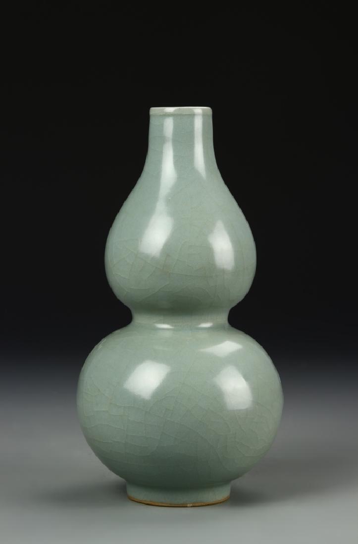 Longchuan Celadon Double-Gourd Vase, Yuan