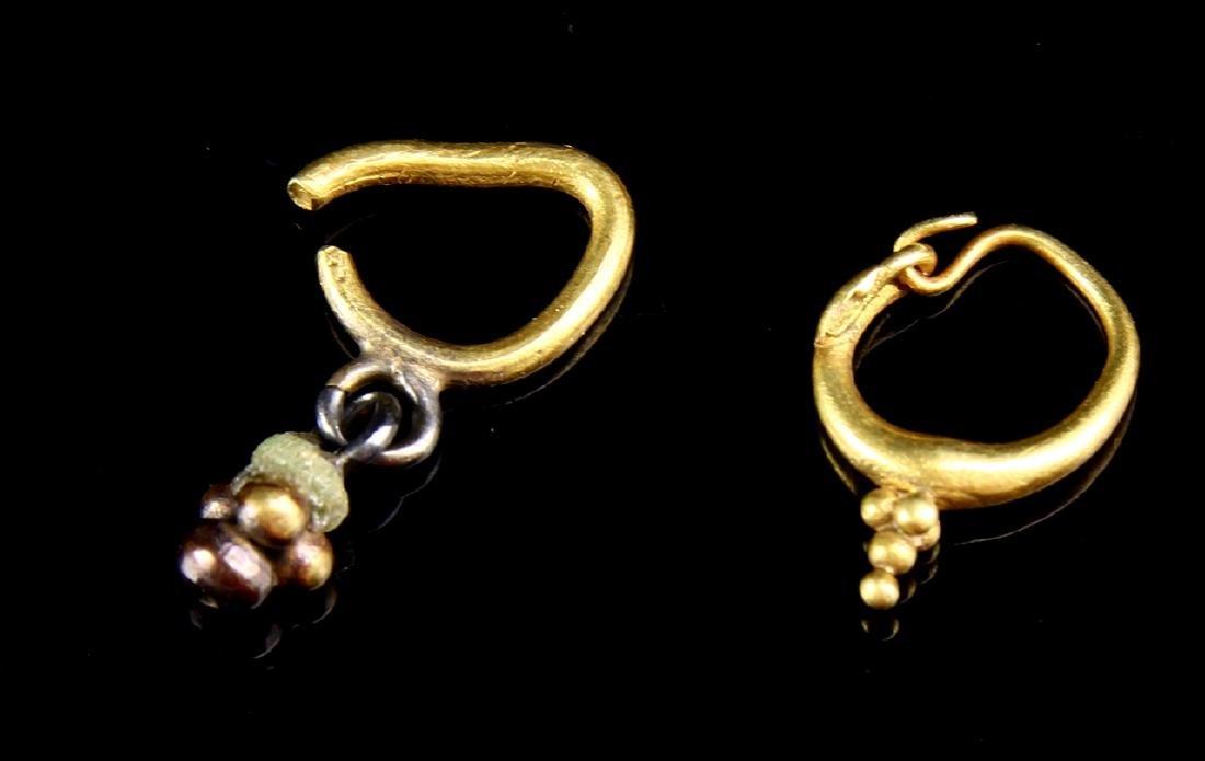 Six Pairs of Ancient Roman Gold Loop Earrings - 2