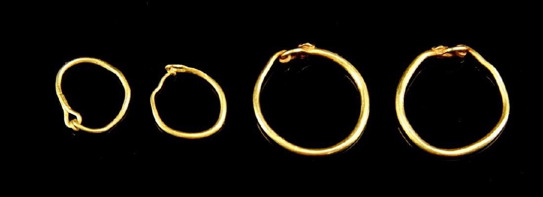 Six Pairs of Ancient Roman Gold Loop Earrings - 3
