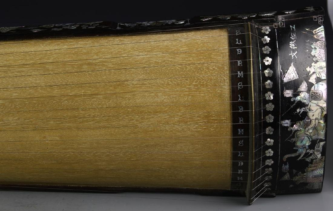 Asian Wood Musical Instrument with Box - 3