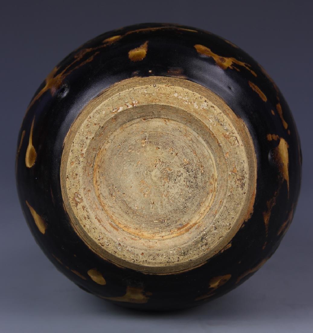 Chinese Antique Black and Orange Glazed Vase - 3