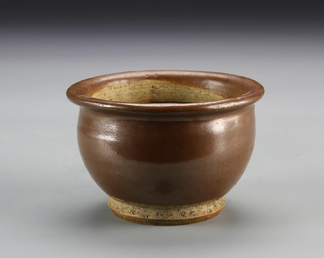 Chinese Antique Brown Bowl - 2