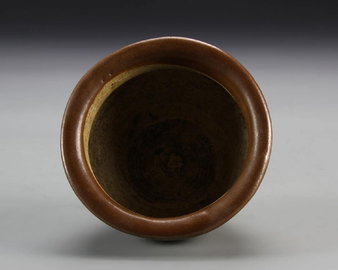 Chinese Antique Brown Bowl - 3