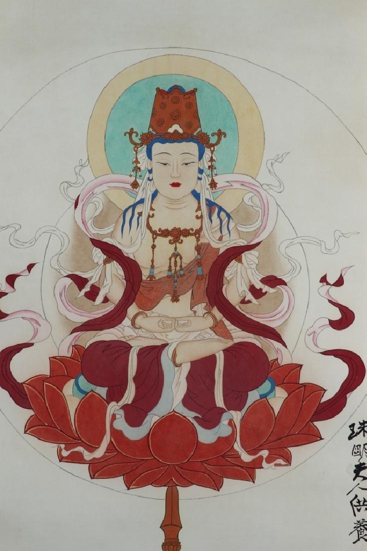 Chinese Scroll Painting of Buddha - 3