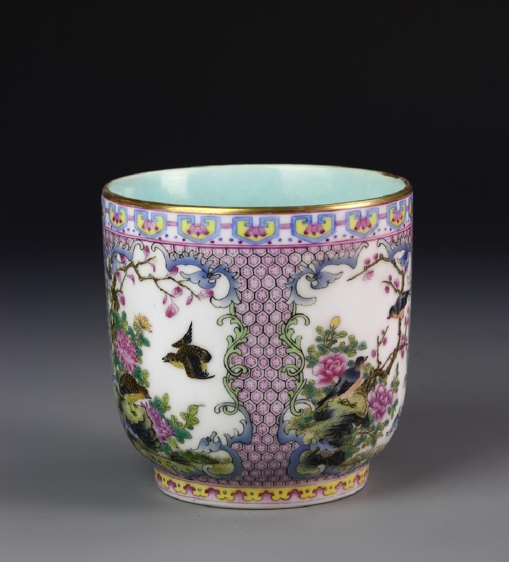 Chinese Enameled Mug - 4