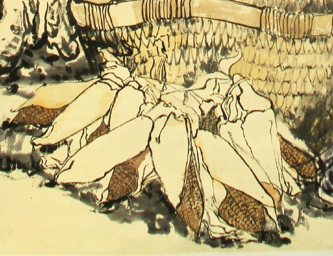 Chinese Scroll Painting of Figures - 2