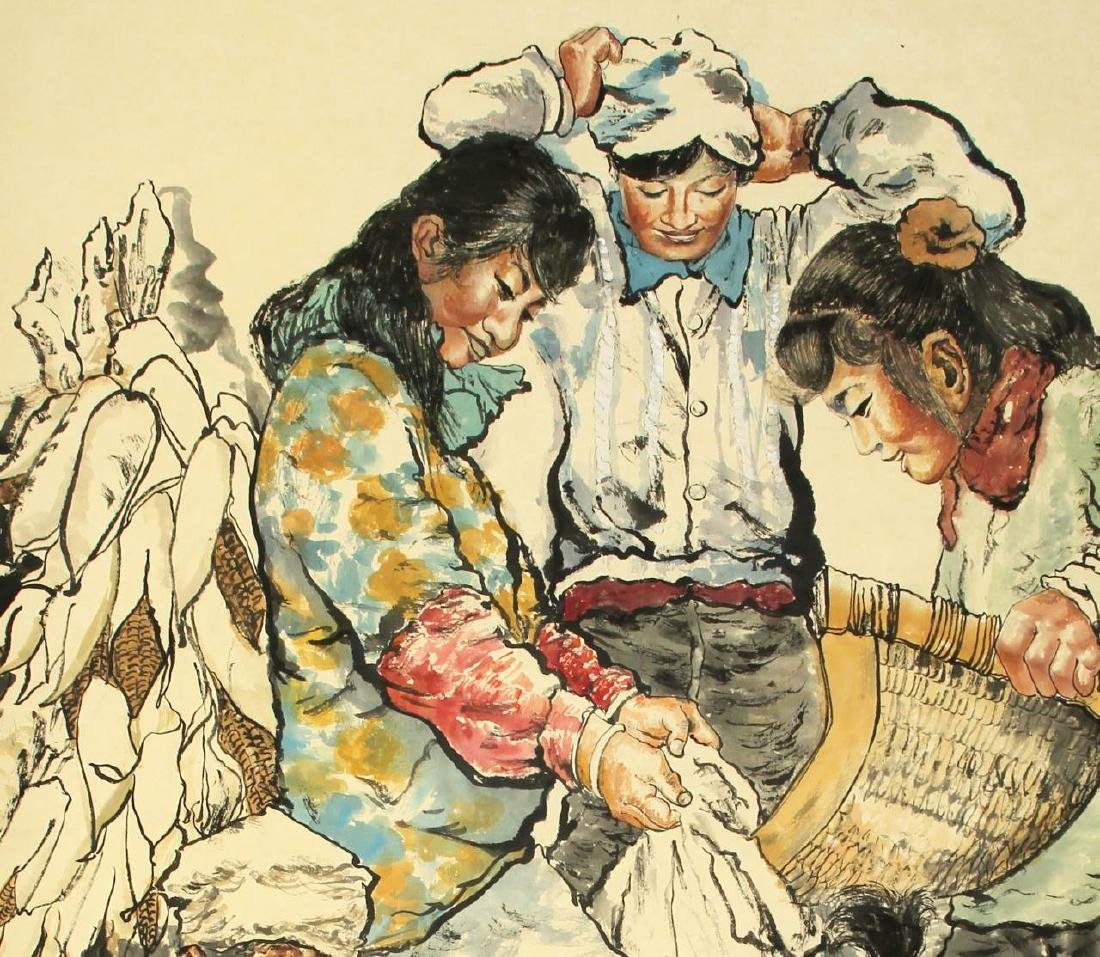 Chinese Scroll Painting of Figures - 5
