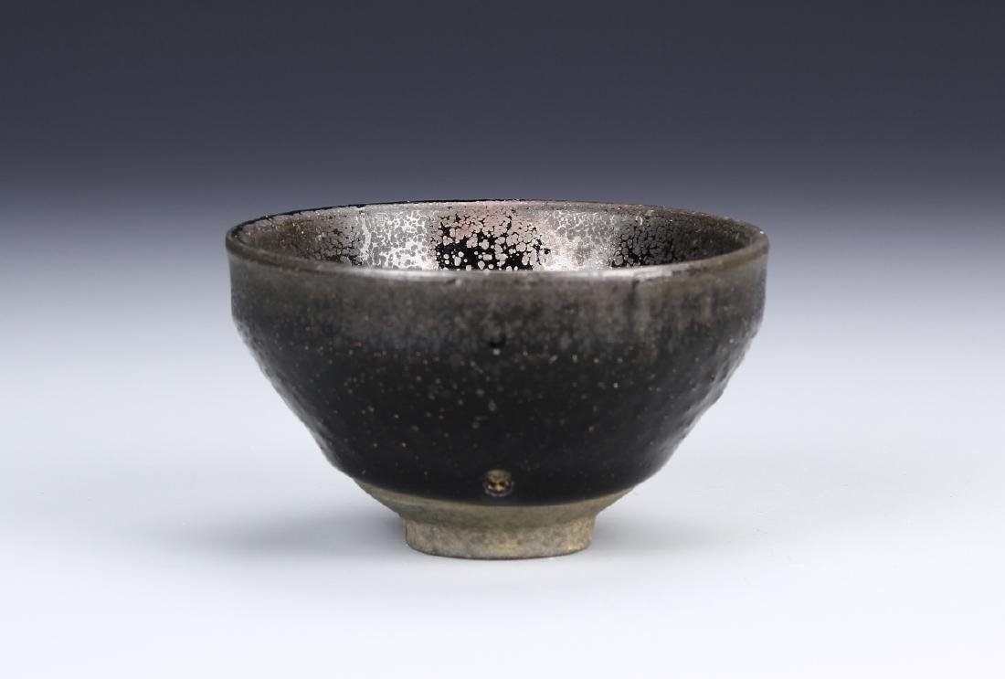 Chinese Oil Dropped Glazed Bowl - 2