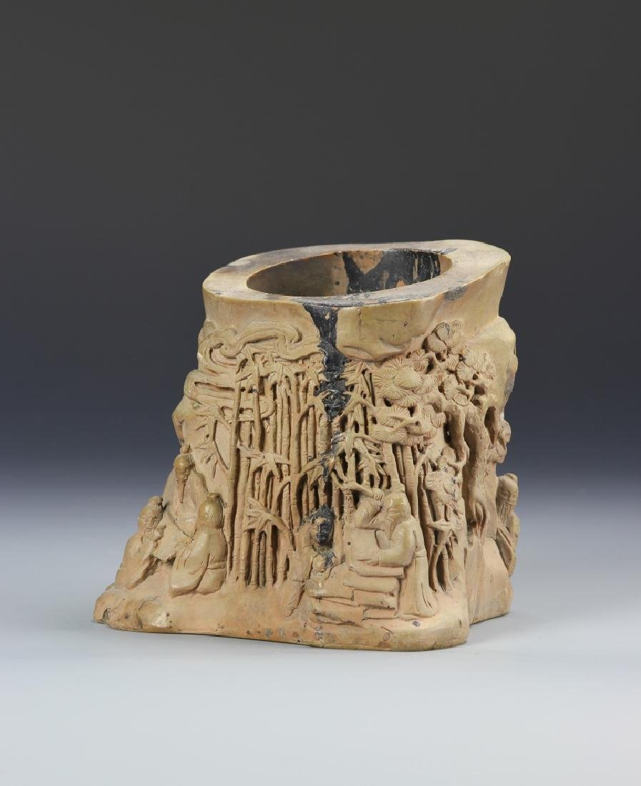 Chinese Carved Brush Pot