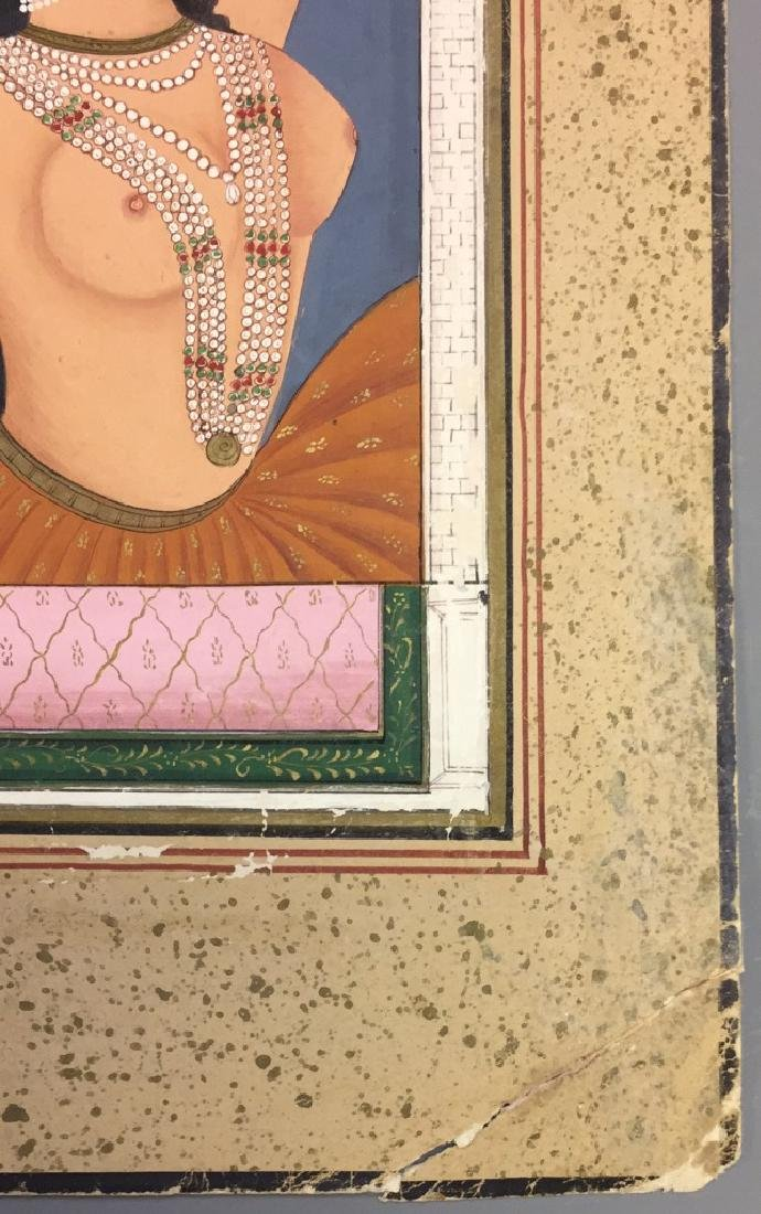 Old Indian Miniture Painting of Maharaja - 2