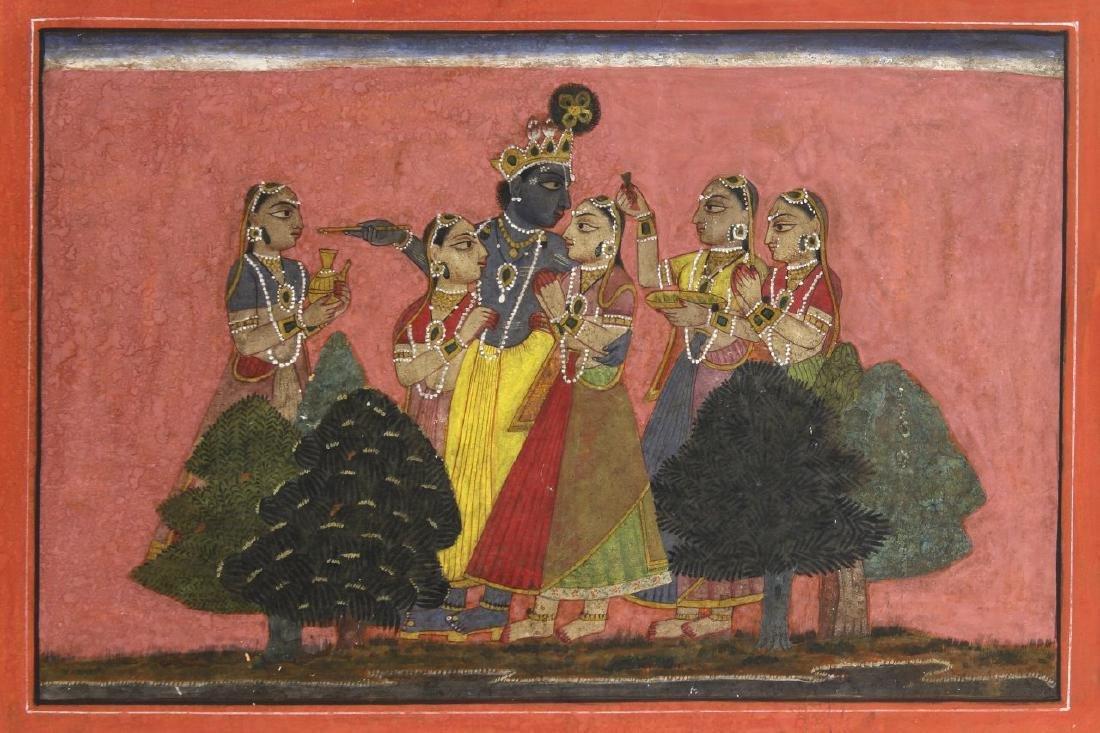 Old Indian Miniature Painting of Maharaja