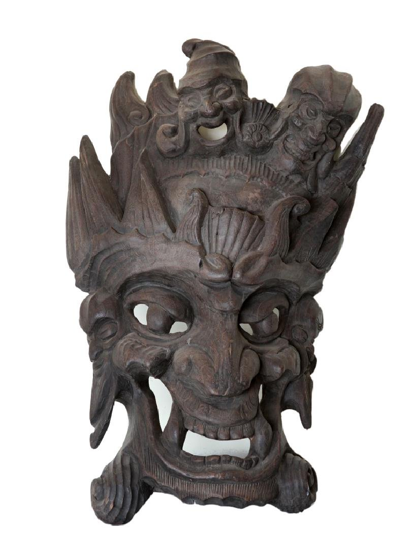 Chinese Yunnan Ethnic Carved Mask