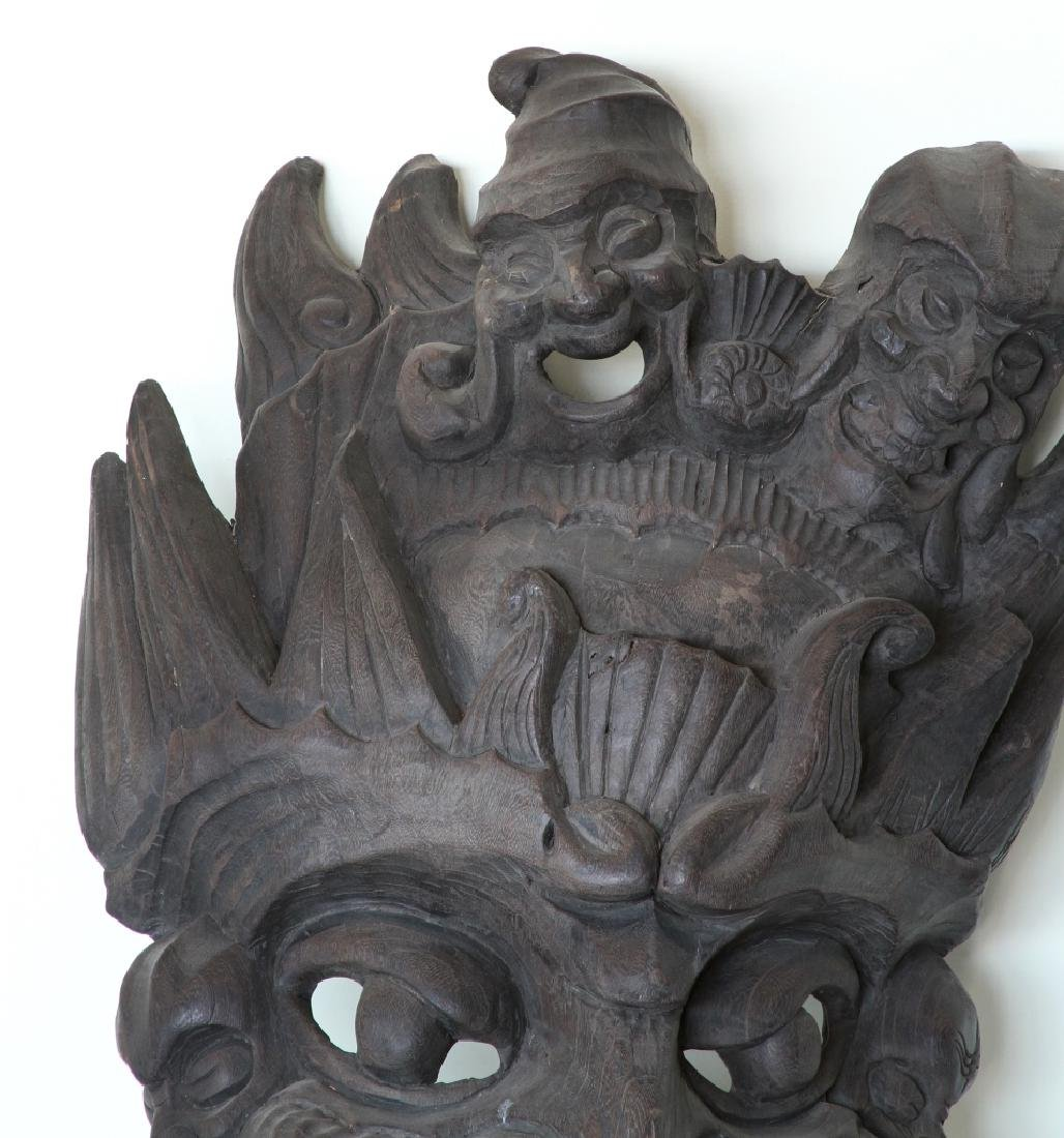 Chinese Yunnan Ethnic Carved Mask - 2