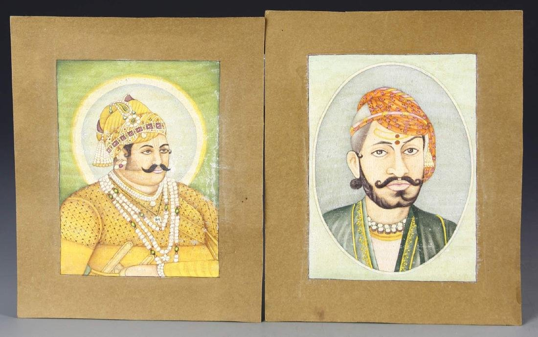 Indian Set Of Two Miniature Paintings