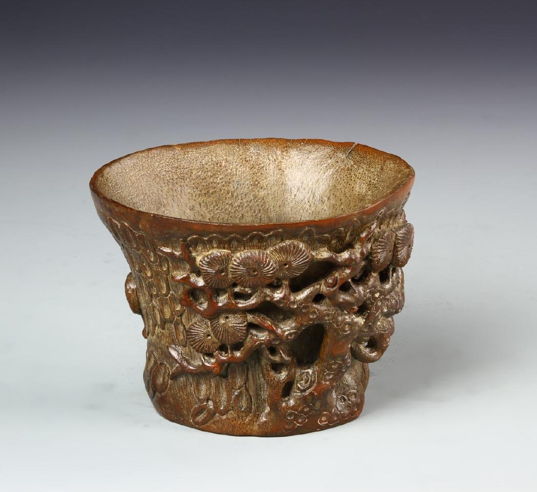 Chinese Bamboo Libation Cup