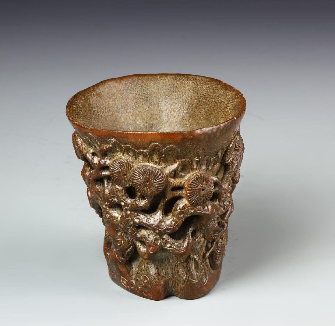 Chinese Bamboo Libation Cup - 2