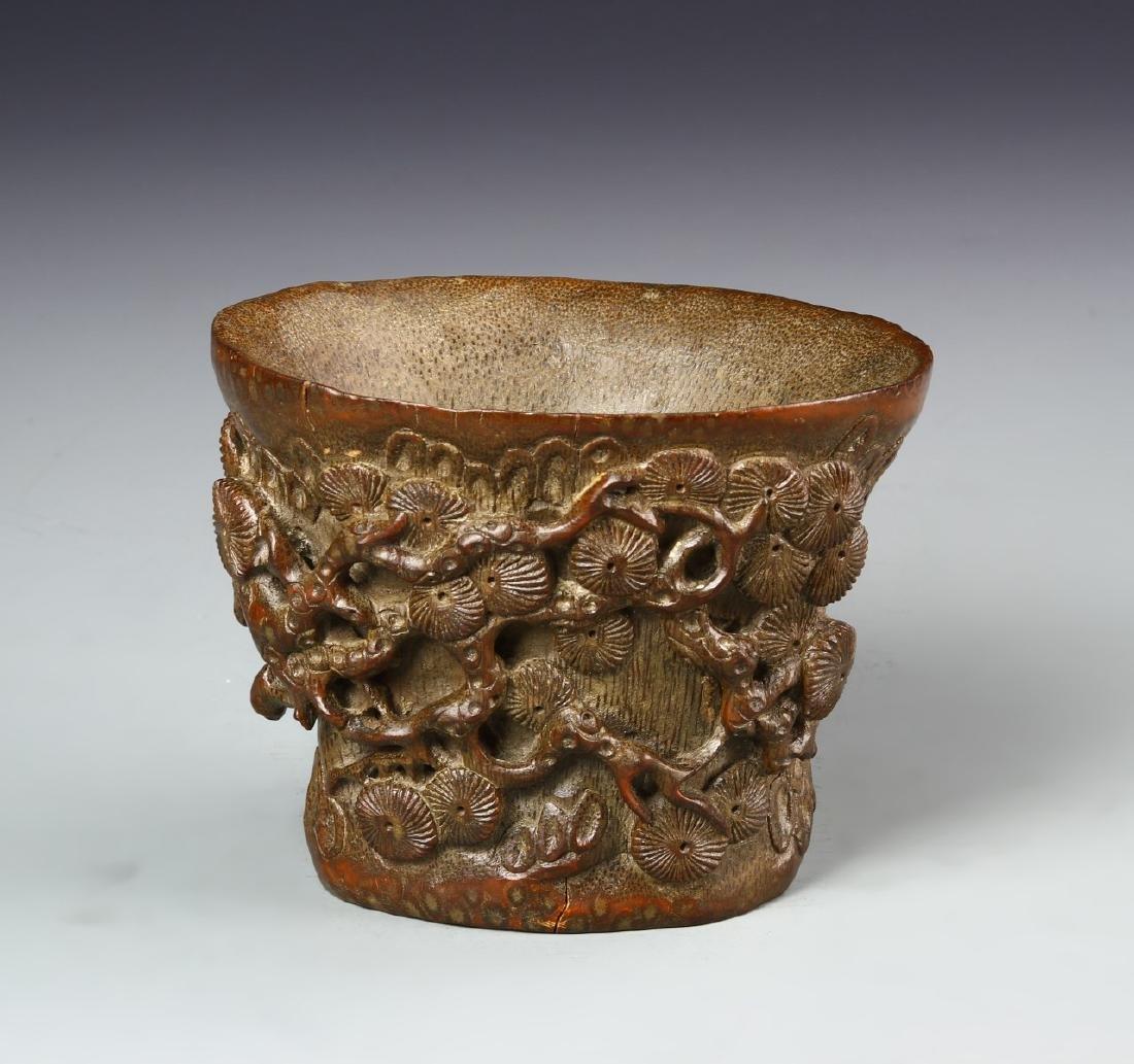 Chinese Bamboo Libation Cup - 3