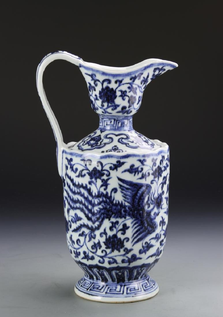 Chinese Blue and White Pitcher - 4