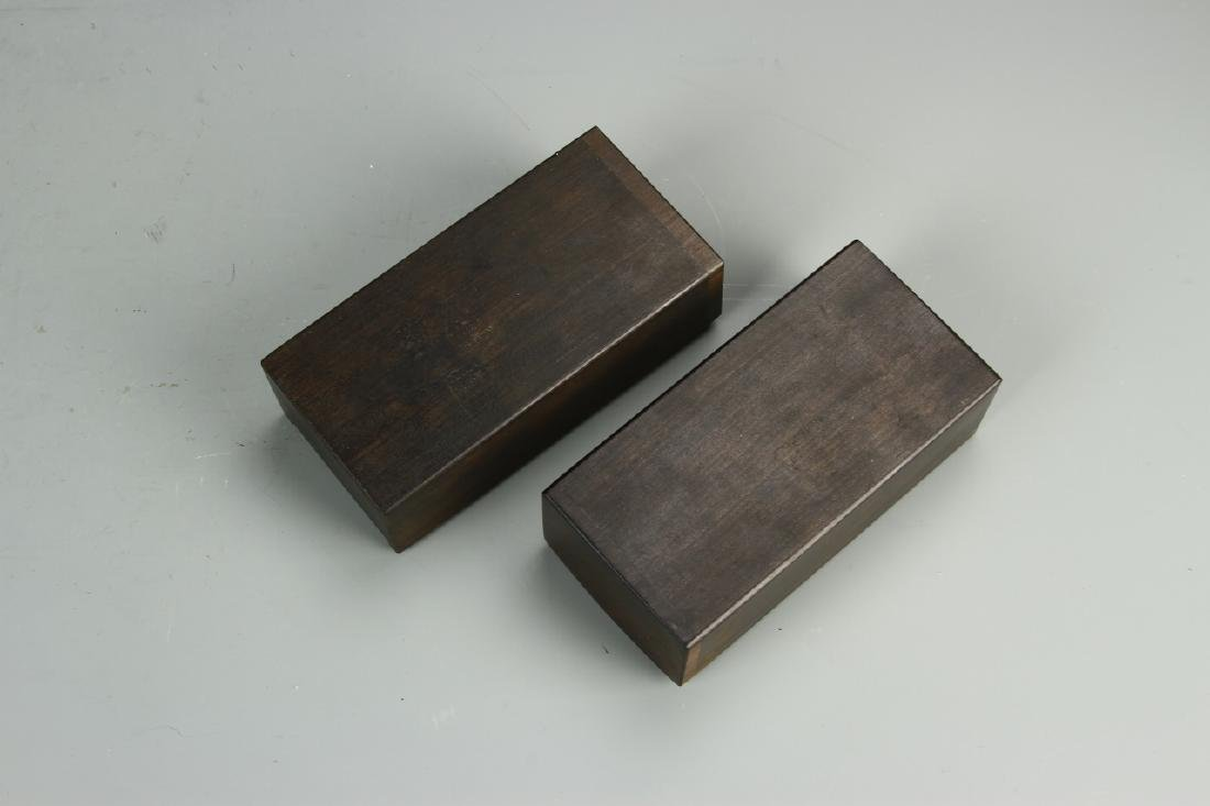 Pair of Chinese Bamboo Seal Boxes - 2