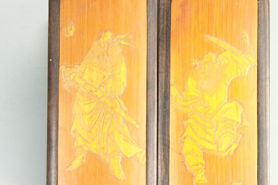 Pair of Chinese Bamboo Seal Boxes - 3