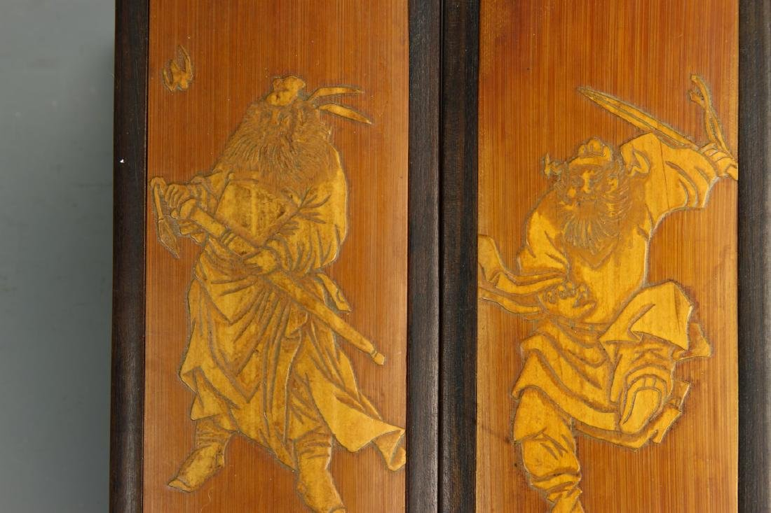 Pair of Chinese Bamboo Seal Boxes - 5