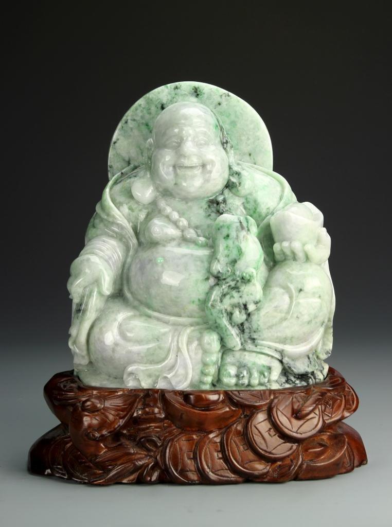 Chinese Jadeite Happy Buddha