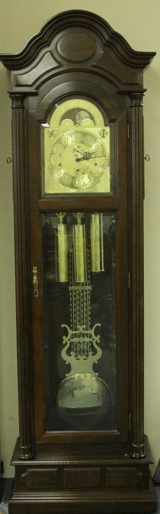 German Mahogany Tall Case Clock