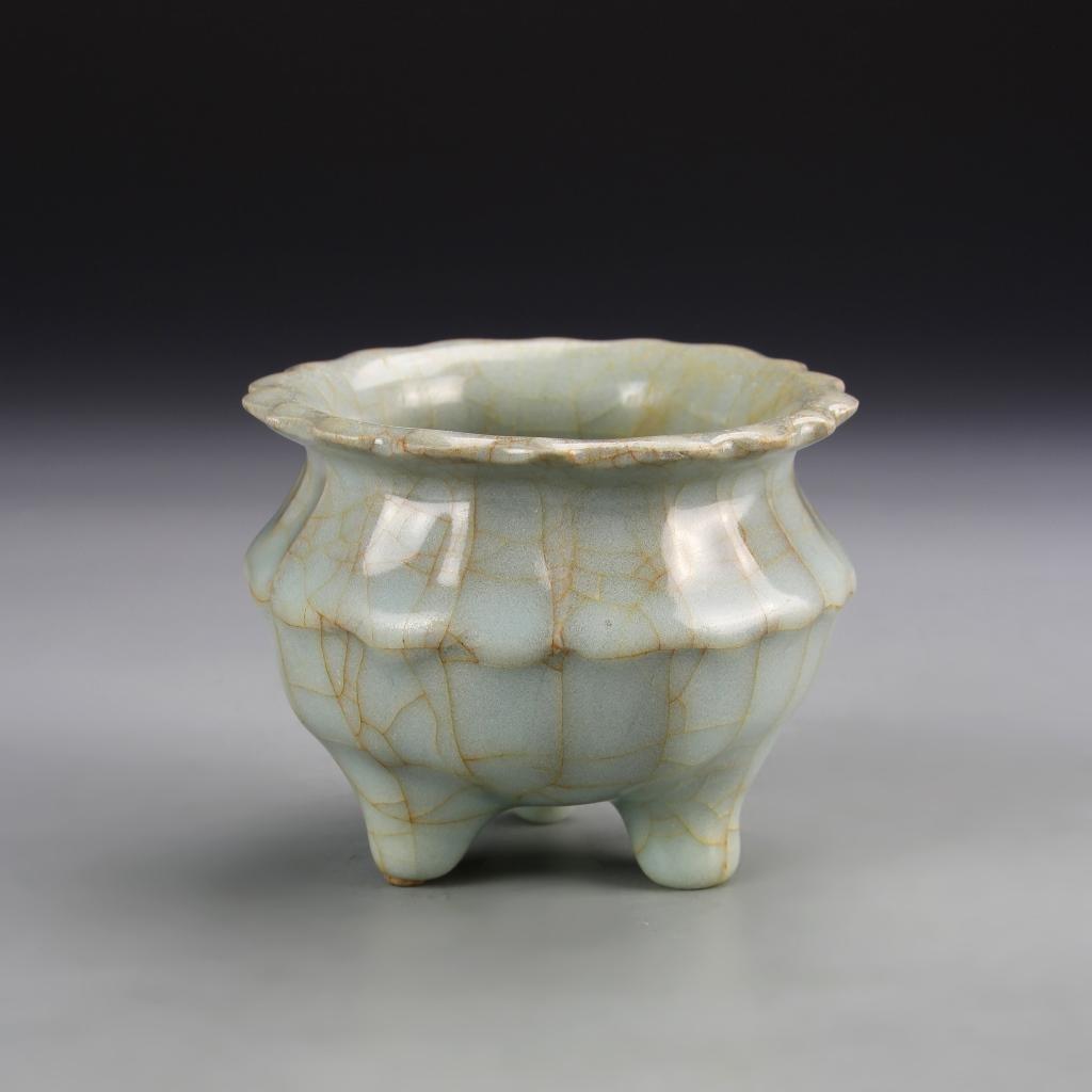 Chinese Guan Yao Tripod Censer