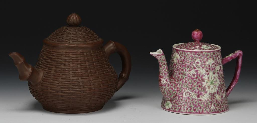 Chinese Yixing and Porcelain Teapots