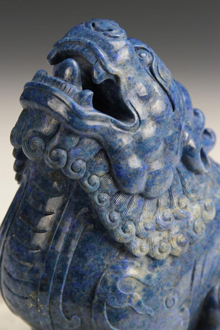 Chinese Carved Lapis Mythical Animal and Foo Lions - 4