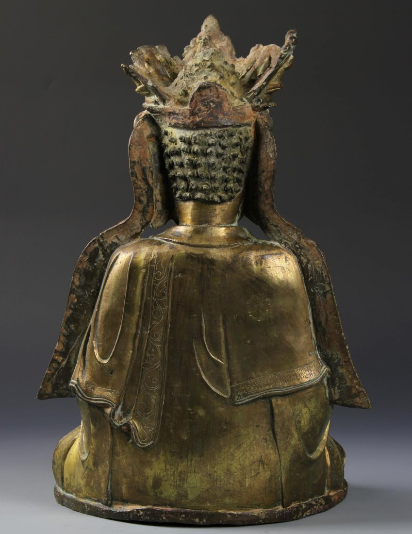 Chinese Gilt Bronze Seated Buddha - 4