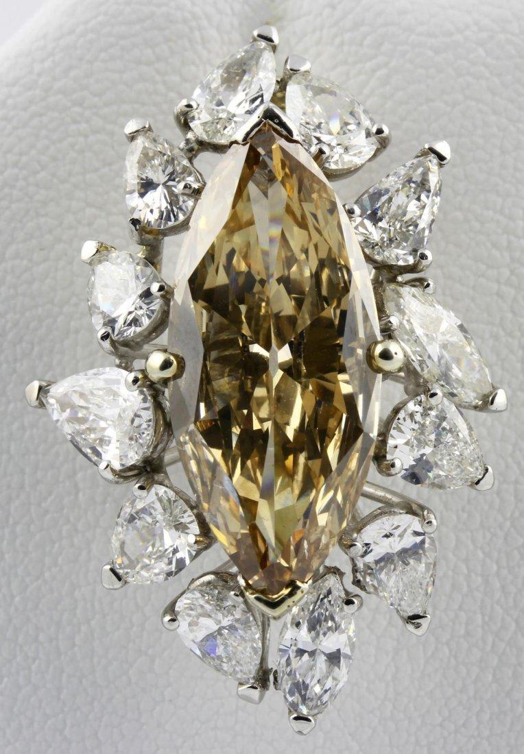 Caramel and White Diamond Pendant