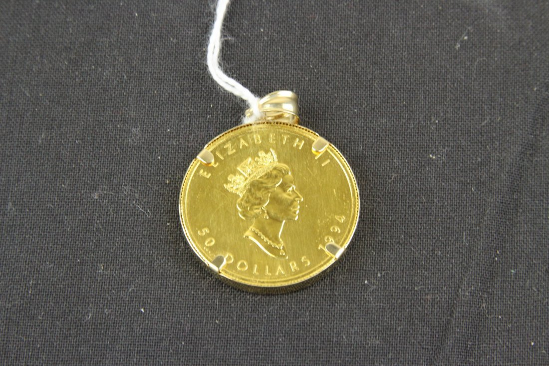 Canadian Gold Coin Necklace